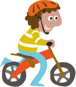 loopfiets jongen | jongleren in het verkeer